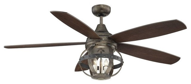 Alsace 3-Light Indoor Ceiling Fans, Reclaimed Wood - Industrial ...