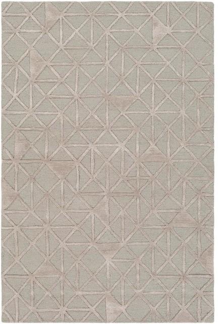 "Surya Colorado COD-1001 Modern Area Rug, Light Gray, Taupe, 5' x 7'6"" Rectangle"