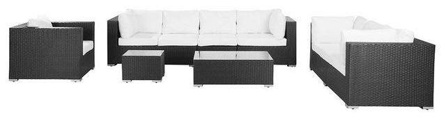 Maestro Luxury Garden Lounge Set, Black