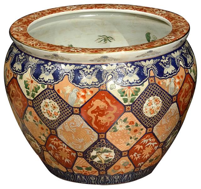Asian pots with a desine