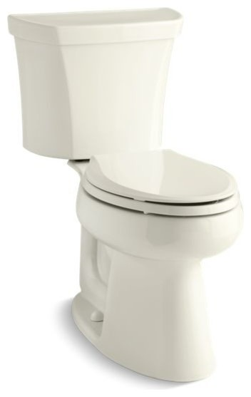 Kohler Highline 1.0 GPF 2-Piece Elongated Toilet With Right-Hand Lever, Biscuit
