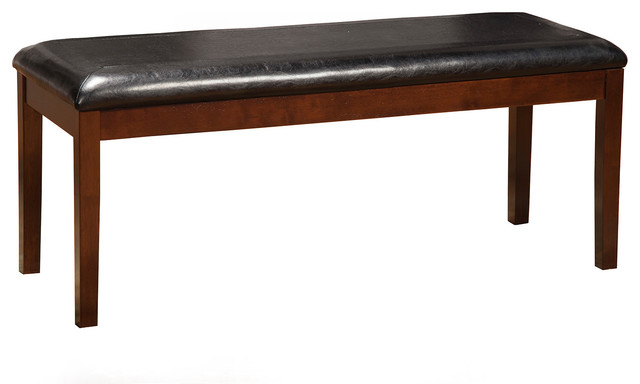 Provo Bench With Faux Leather Cushion. -1