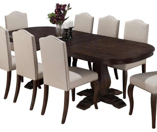 Jofran 634 102 Dining Table With Butterfly Leaf Transitional Folding Tables