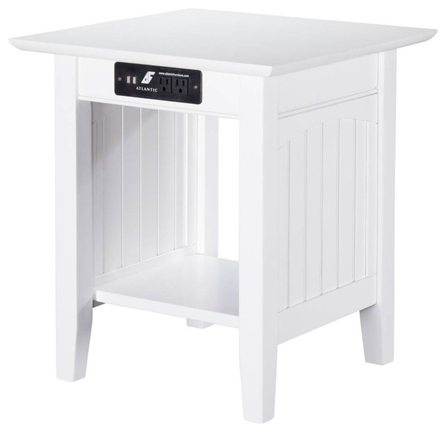 Nantucket Coffee Table.Nantucket End Table With Charger White