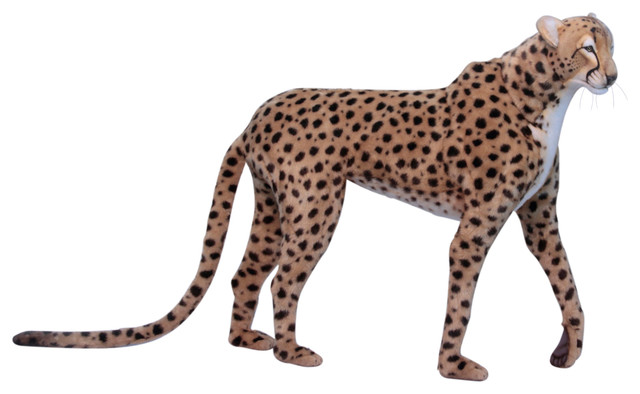Life Size Standing Cheetah Jacq Contemporary Kids Toys And By Hansa Creation Usa