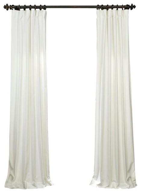 white vintage cotton velvet curtain contemporary