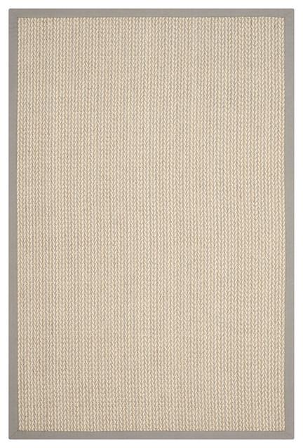 Safavieh Natural Fiber Nf475a Solid Color Rug Grey