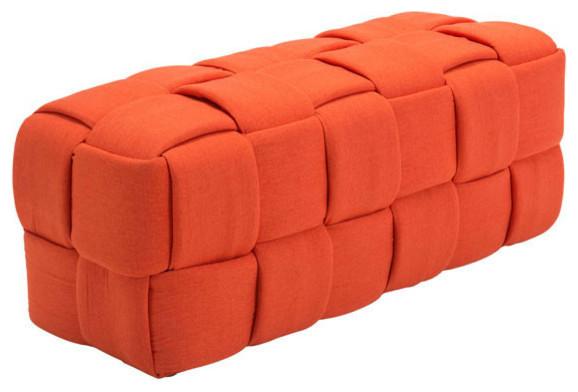 Checks Bench, Orange.