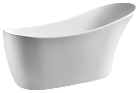 Europe-Style Bathtub, White.