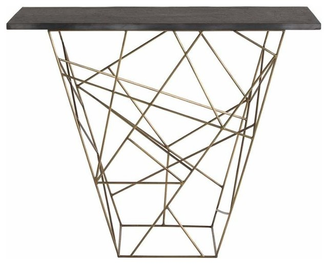 Arteriors arteriors 6020 liev 42 long marble top iron for 42 sofa table