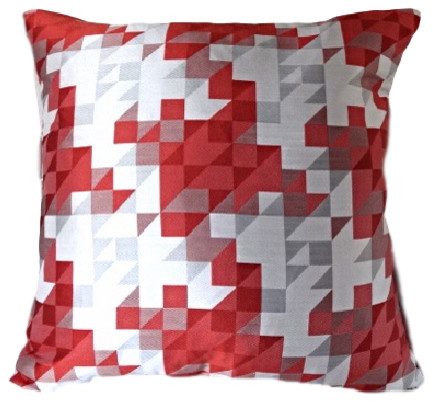 Red Pixel Pillow - Modern - Decorative Pillows - by Dragon 88