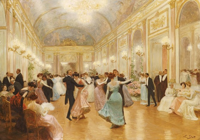 ... The Ball Painting Wall Mural 48 X 36 Victorian Wall Decals ... Part 54