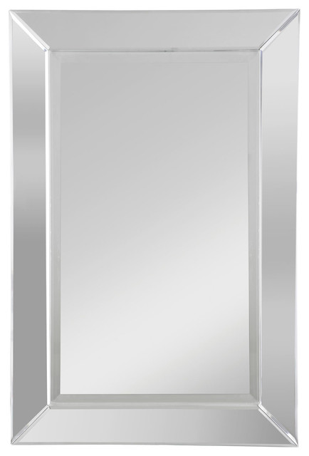 Premier Housewares Orchid Wall Mirror, Mirrored Frame - Transitional ...