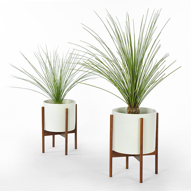 Modernica Case Study Planter With Stand White Modern Indoor Pots And Planters By Horne