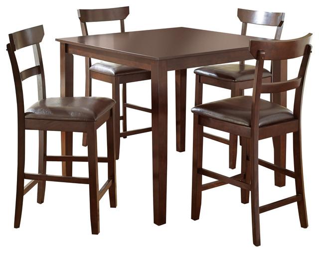 howard table set transitional indoor pub and bistro sets by steve silver. Black Bedroom Furniture Sets. Home Design Ideas