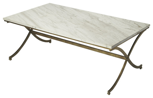 Butler Pamina Travertine Cocktail Table Transitional Coffee Tables
