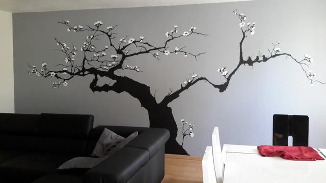 Décor mural arbre japonais en fleur