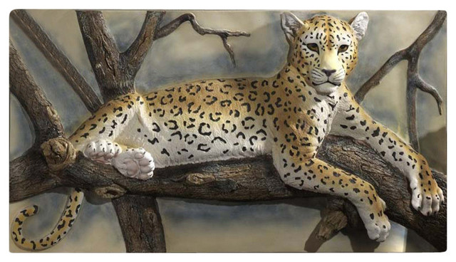 Leopards Lair Sculptural Wall Frieze Contemporary Wall