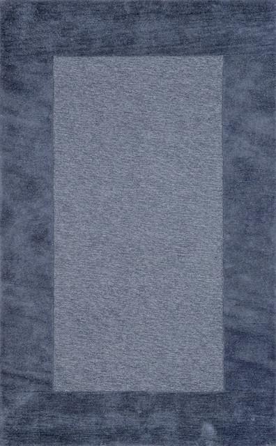 "Madrid Border Rug, Blue, 60""x96""."