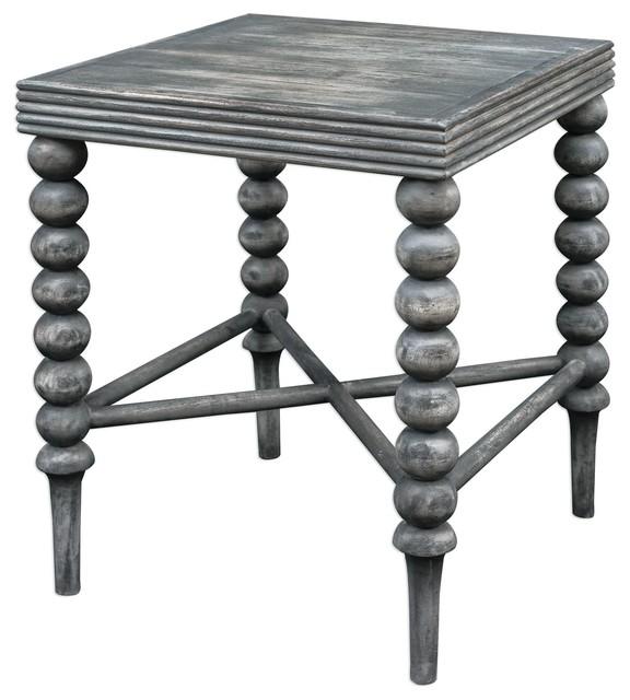 Kunja Gray Square Accent Table.