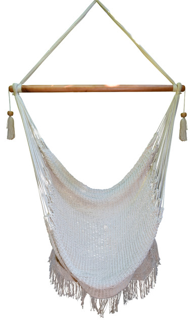 Macrame Indoor/Outdoor Hammock Chair Contemporary Hammocks And Swing Chairs