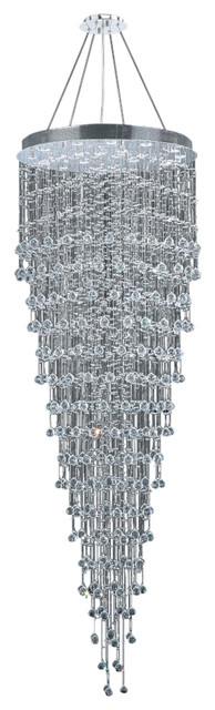 Icicle 16 Light Large Chandelier In Polished Chrome With Clear Crystal