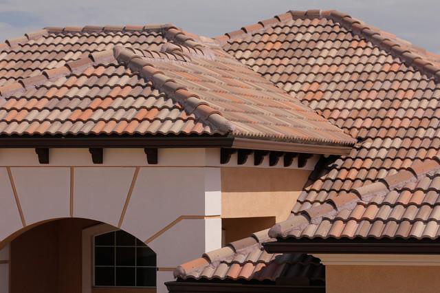 a tile roof