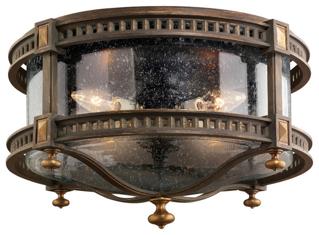 Fine Art Lamps Beekman Place Outdoor Flush Mount - Traditional ...