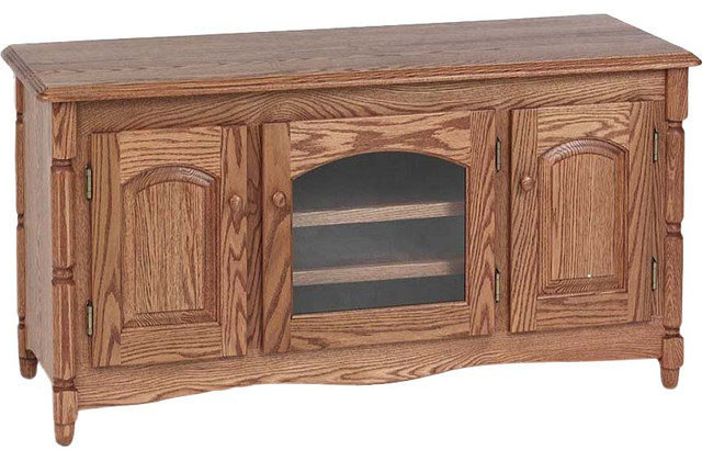 Country Style Solid Oak Tv Stand With Cabinet 51 Traditional Entertainment Centers And Stands By The Furniture
