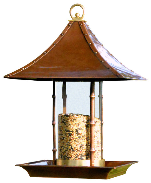 Bamboo Bird Feeder Traditional Bird Feeders By H Potter