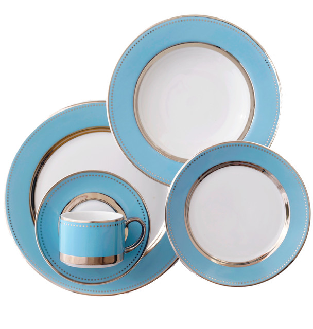 Lauderdale 5-Piece Place Setting - Contemporary - Dinnerware Sets - by Darbie Angell  sc 1 st  Houzz & Lauderdale 5-Piece Place Setting