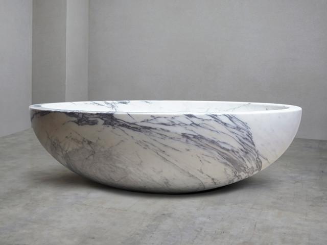 Italian Arabescato Marble Bath contemporary-bathtubs
