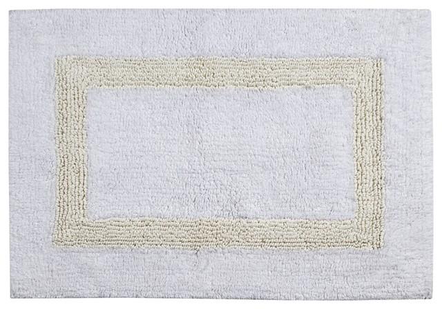 Hotel Collection Bath Rug, White And Ivory, White/Ivory, 21u0027x34
