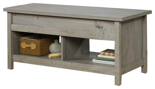 Farmhouse Lift Top Coffee Table.Lift Top Coffee Table In Mystic Oak Finish