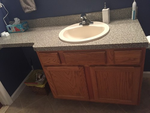 Vanity Help No More Extended Countertop What Can We Put