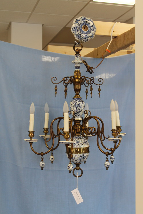 Delft chandelier dilemma do you like it is it a keeper mozeypictures