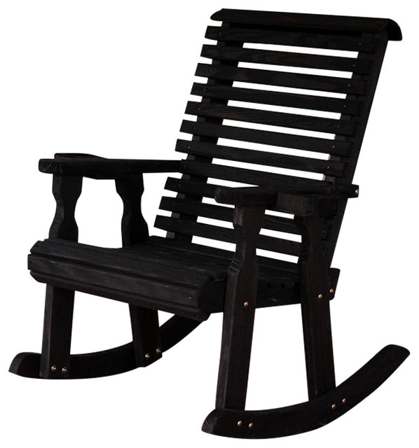 Heavy Duty Roll Back Pressure Treated Rocking Chair With