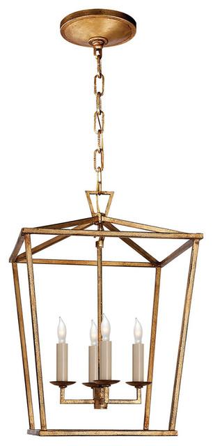 E. F. Chapman Darlana Small Lantern Gilded Iron.