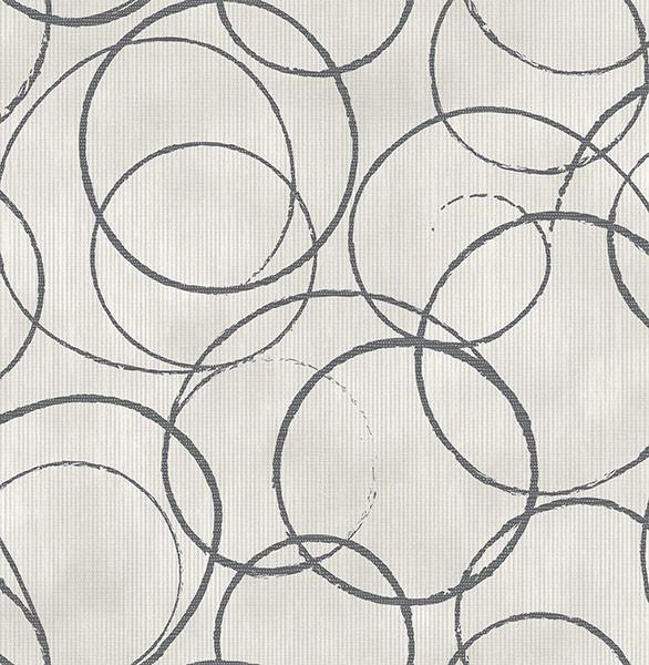 Ripple Black Circle Geometric Wallpaper Contemporary  : contemporary wallpaper from www.houzz.com size 586 x 600 jpeg 129kB