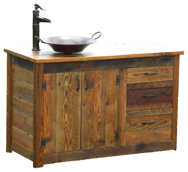 Custom Bathroom Vanities Montreal bathroom vanity - rustic - bathroom vanities and sink consoles
