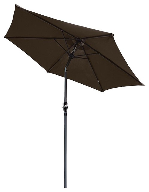 Patio Umbrella Crank Diagram: 8' Crank Tilt Aluminum Patio Umbrella