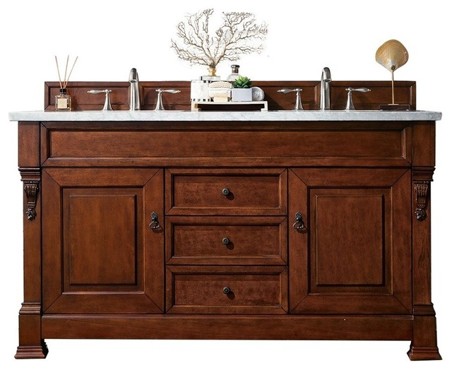 """Wentworth Double Bathroom Vanity, Without Countertop, 60""""."""