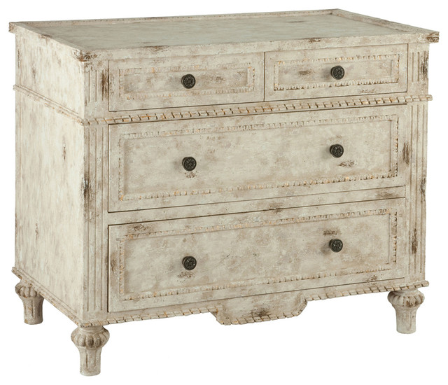 arlon french country antique distressed white 4 drawer dresser traditional dressers antique distressed furniture