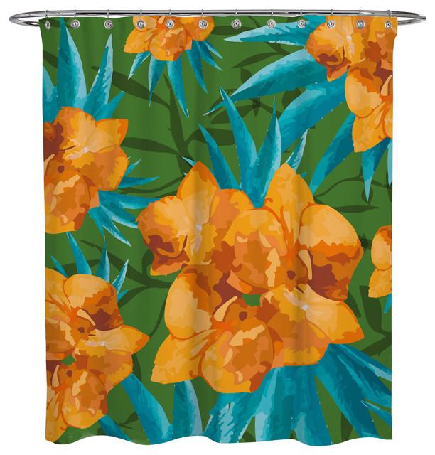 Shower Curtain Tropical Flower