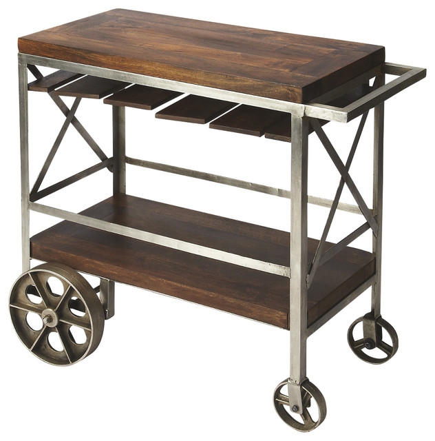 Butler Industrial Chic Trolley Server Industrial Bar
