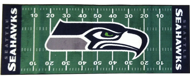 NFL Seattle Seahawks Football Long Accent Runner Rug  Contemporary Hall And Stair
