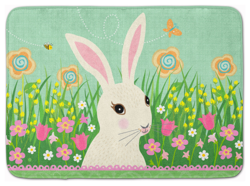 Easter Bunny Rabbit Machine Washable Memory Foam Mat Contemporary Kitchen Mats By The Store Houzz