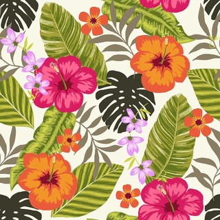 Tropical Fiesta Wallpaper Tiles Tropical Wallpaper