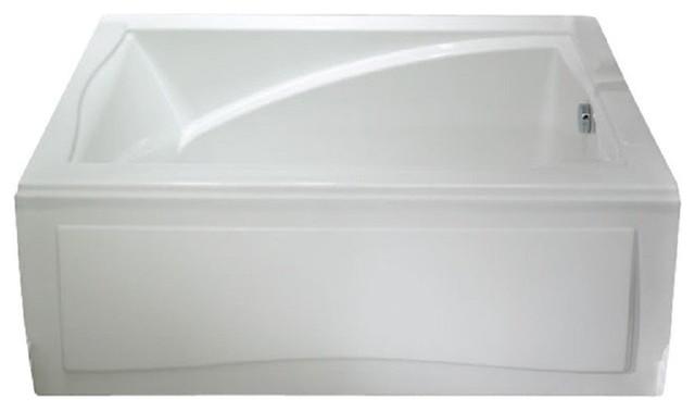 "60""x36"" Delight Acrylic Rectangular Drop-In Bathtub, Whirlpool And Activ-Air."