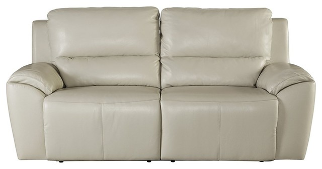 Ashley Furniture 2 Seat Reclining Sofa Cream Contemporary Sofas